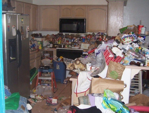 before hoarding cleanup